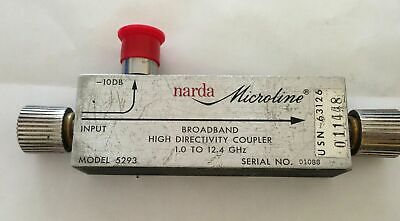Narda Microline Model 5293 Broadband High Directivity Coupler 1 - 12.4 Ghz