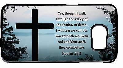 Cross Galaxy (New Bible verse Christian Cross Psalm For Samsung Galaxy Note 5/4/3 Cover)