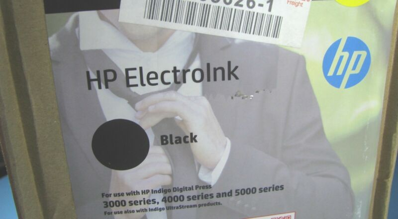 HP Indigo Ink Black ElectroInk for 3000/4000/5000 Series 10 Cans