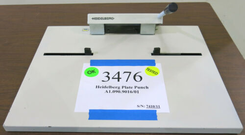 Heidelberg NELA A1.090.9016/01 Bench Top 220 mm Plate Punch