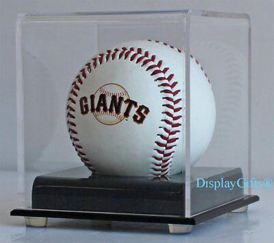 1 Baseball/Billiard Ball Holder Display Case Stand, Acrylic Cover, UV (Acrylic Baseball Display Cases)