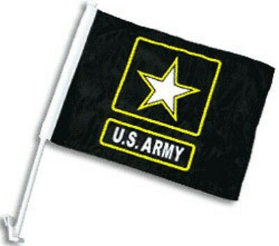 "Used, 12x15 US Army Star Black Double Sided Car Window Vehicle 12""x15"" Flag (FI) for sale  Shipping to Canada"