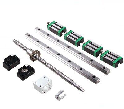 Hgr20 200mm-1000mm 2pcs Linear Guide Rail 1pcs Sfu1605 Ballscrew Set For Cnc