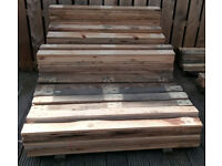 "3/4"" heavy duty euro pallet boards perfect for walls or furniture lengths from 1 meter upto 48ins"
