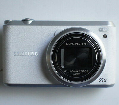Samsung WB350F 16.3MP WIFI 1080P White Digital Camera w/ Battery #2