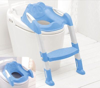 Toilet Seat For Children With Step and Ladder  (Blue)
