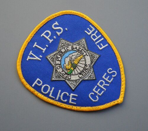 Ceres California Police Fire Public Safety VIPS Patch