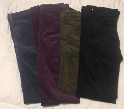 Gap 1969 Cord Corduroy Perfect Boot Pants Black Green Navy or Purple