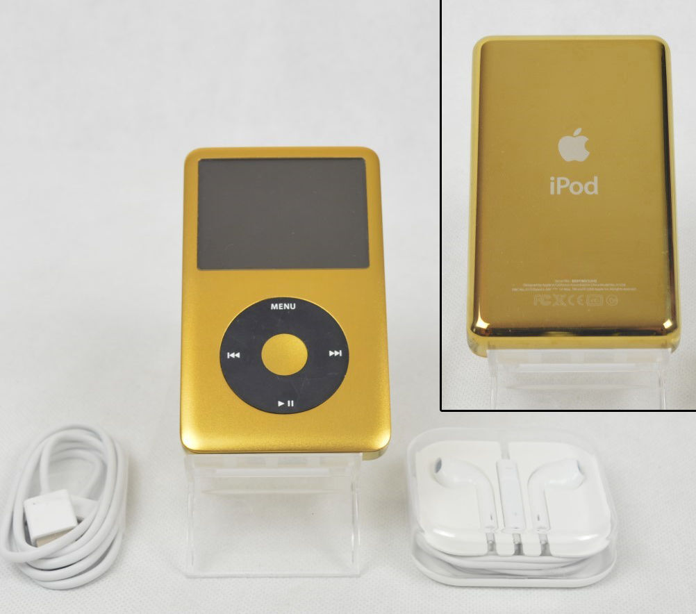 apple ipod classic 7th generation gold black 256 gb ssd. Black Bedroom Furniture Sets. Home Design Ideas