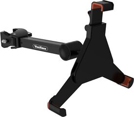 "Von haus black mount clamp for music/microphone stand suitable for Ipad mini & 7-8.5"" tablets"