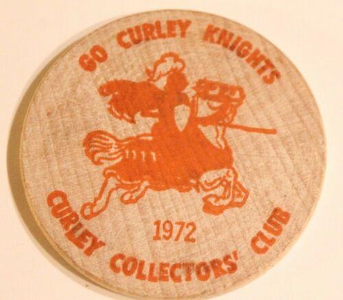 Vintage Wooden Nickel Archbishop Curley High School 1972