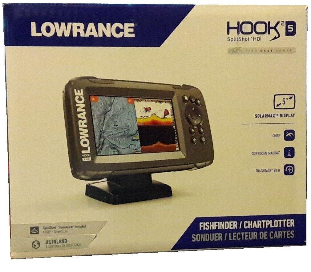 Lowrance Hook2 5 CHIRP GPS Chartplotter Fishfinder & SplitSh