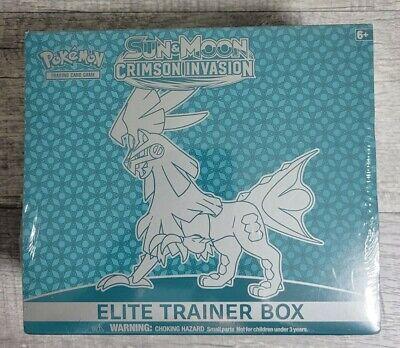 Pokemon Sun And Moon Crimson Invasion Elite Trainer Box New Factory Sealed