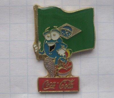 COCA-COLA / ATLANTA 1996 / IZZY / BRASILIEN  FAHNE.... Sport Pin (110k)