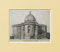 Loreto,le Mura Della Chiesa E La Cupola.ancona.marche.xilo In Passepartout 1894 -  - ebay.it