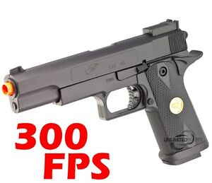 300-FPS-AIRSOFT-BLACK-OPS-SPRING-PISTOL-GUN-6mm-BB-NEW