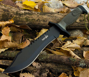 NEW-HUNTING-Bowie-Fixed-Blade-SURVIVAL-KNIFE-w-SHEATH