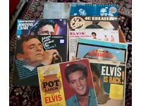 Various vinyl records and storage boxes - see description for prices - excellent condition