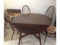 Original Ercol Drop Leaf Dining Table and Chairs
