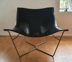 David Weeks Semana leather sling chair for Habitat British American Design