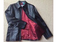 Women's Black Leather Jacket Size 14 BNWT