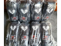 Furiousfistsuk Synthetic Leather 14oz Training Gloves (Black Color)