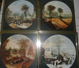 Four Framed prints - The Four Seasons by Jodocus de Momper - £15 for the set