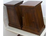 """Pair Stylish Solid Wood Pyramid A-Form Cabinets by """"The Pier"""""""