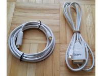 Mini DisplayPort to HDMI & Mini DisplayPort to DVI Cable For Apple MacBook Pro To TV or Monitor