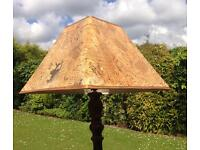 Standard lamp with shade plus extra shade