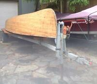 Antique Peterborough wooden boat