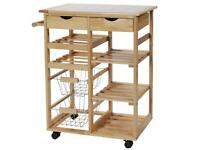 Kitchen trolley/worktop-storage
