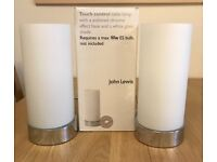 "Pair of John Lewis ""Touch"" Lamps - Like New"