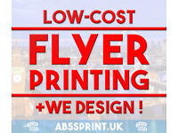 Design + Printing | ABSS Print & Design | Leaflets, Flyers, Takeaway Menu, Posters & more
