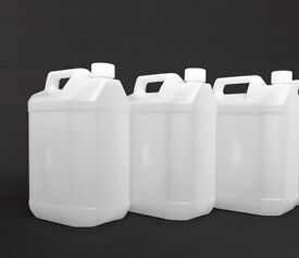 3 x 5 LITRE PLASTIC CONTAINERS-£5.00