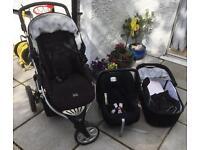 Britax b mobile 3 in 1 travel system. Pram . Buggy . Pushchair