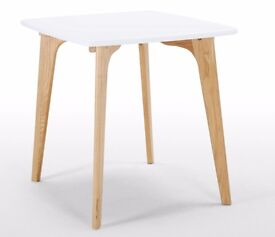 Made Fjord Dining Table and Two Chairs Oak & White