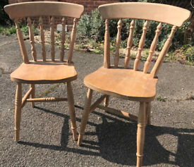 Two Pine Farmhouse Kitchen Chairs