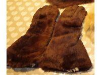 Vintage fur scarf and gloves