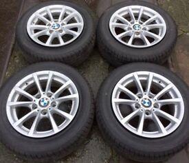 """16"""" Genuine BMW 3 Series F30 Alloy Wheels & Tyres 205/60R16 5x120 Fits 1 Z3 Z4 4 VW T5 Transporter"""