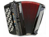 SEM Ciao Reedless Accordion - 5 Row C-System - Super Light Weight with 399 Built in Sounds