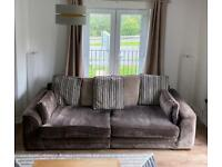 4 Seater Couch & Swivel Chair