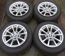 "16"" Genuine BMW 3 Series F30 Alloy Wheels & Tyres 205/60R16 5x120 Fits 1 Z3 Z4 4 VW T5 Transporter"
