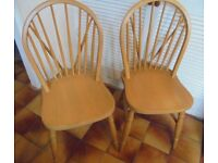 Two Stick Back Windsor Kitchen or Dining Chairs, £45 for the pair