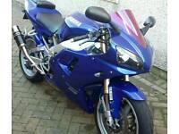 Yamaha R1 in blue (1999)