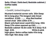 Corner sofa / Sofabed/Chair/ Coffee table/ Bedside cupboard/Bath