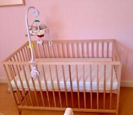 Baby cot, only used 6 months