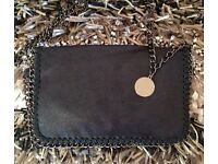 New Black Chain detail clutch bag