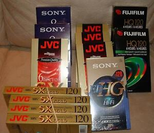 NEW HIGH QUALITY VCR CASSETTES TAPES $4-$5 each London Ontario image 1