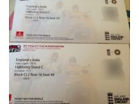 £80 for 2 x Tickets England vs India T20 Ticket Old Trafford 3rd July 2018